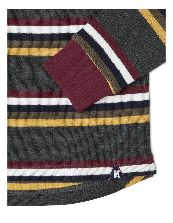 Waffle Long-Sleeve Stripe T-Shirt image 3