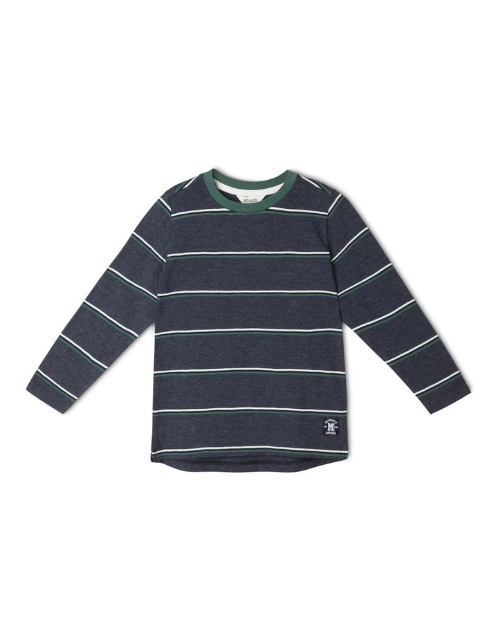 Long-Sleeve Yarn-Dye Slub T-Shirt image 1