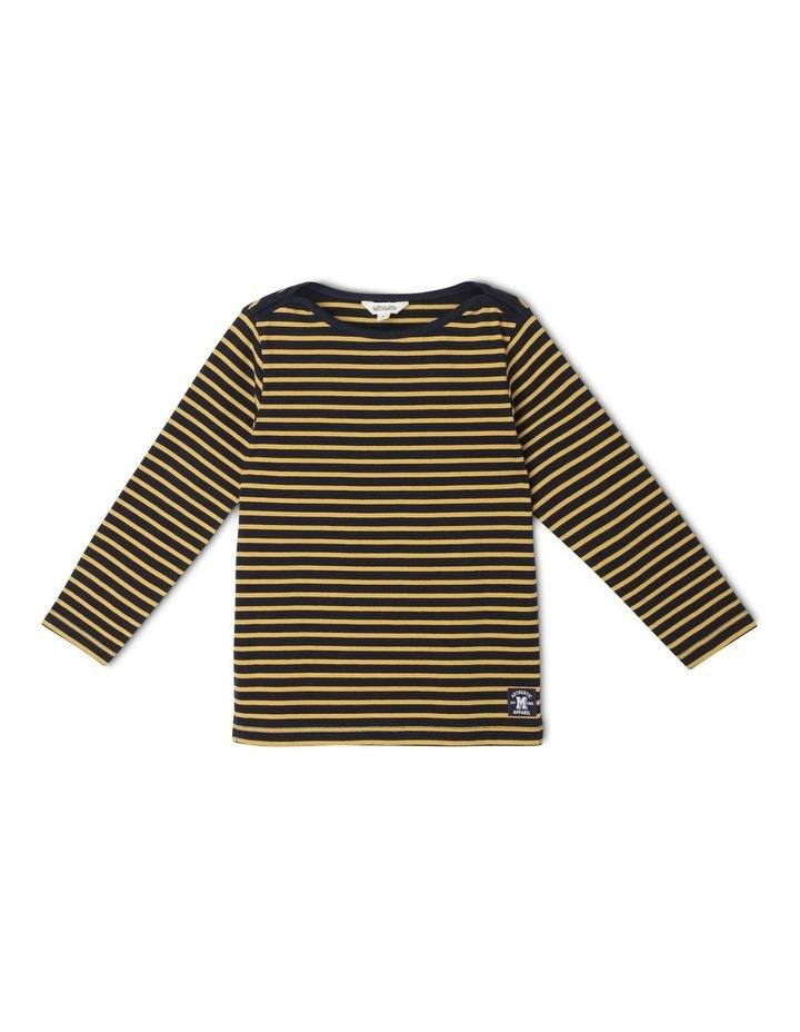 Boat-Neck Stripe T-Shirt image 1