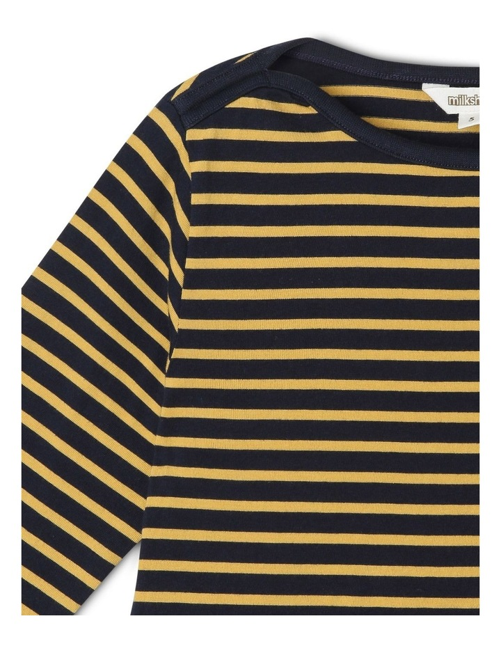 Boat-Neck Stripe T-Shirt image 2