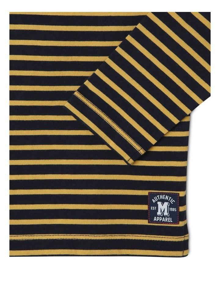 Boat-Neck Stripe T-Shirt image 3