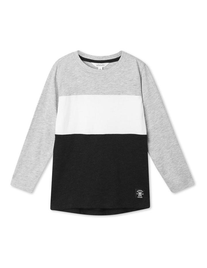 Spliced Long-Sleeve T-Shirt image 1
