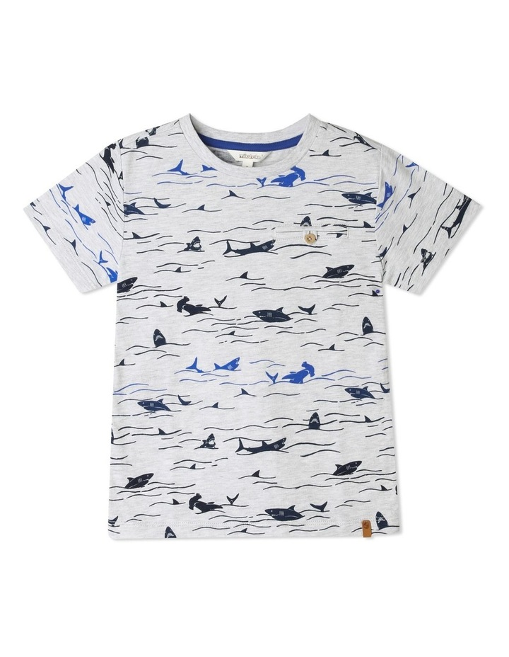 Printed T-Shirt with Chest Pocket image 1