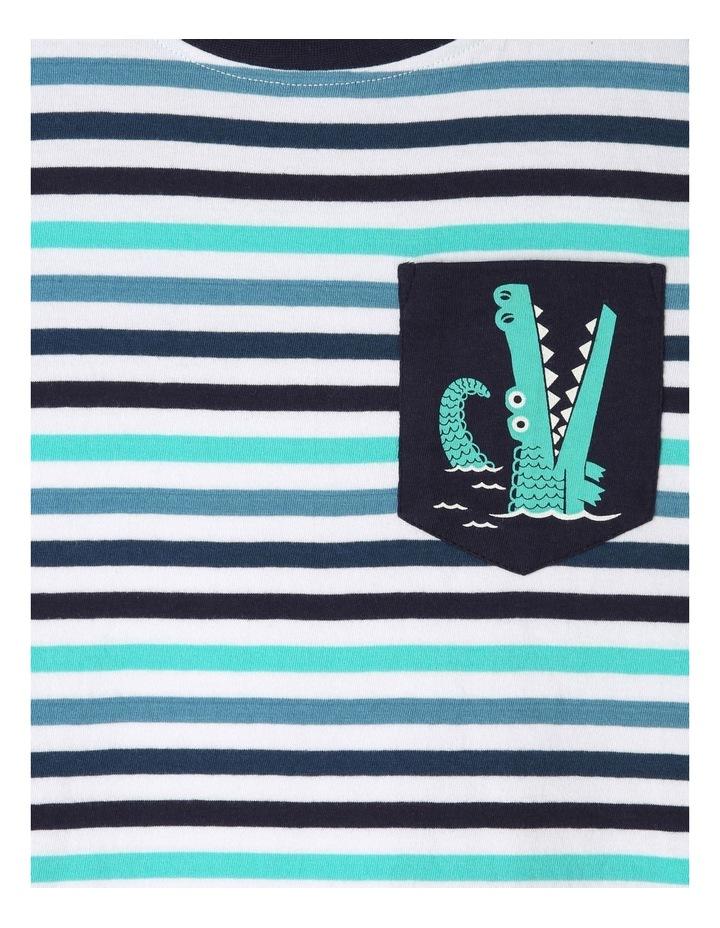 Stripe T-Shirt with Pocket image 2