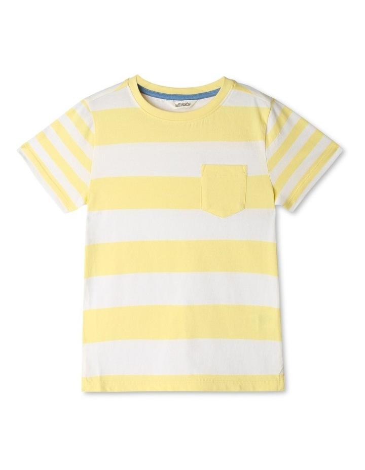 Stripe T-shirt with Pocket image 1