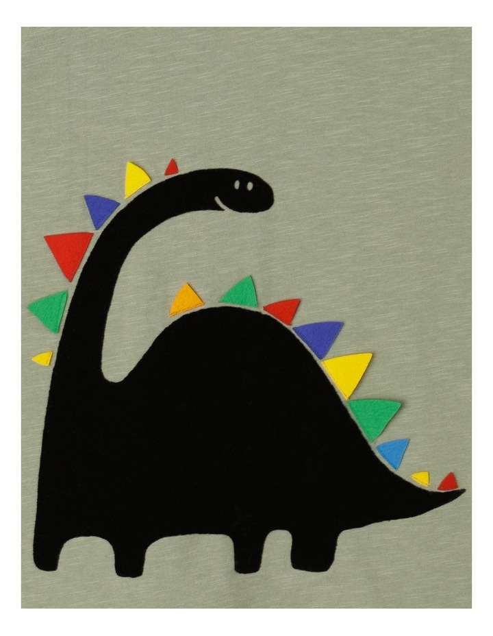 Flocked Dinosaur T-Shirt with 3D Applique image 3