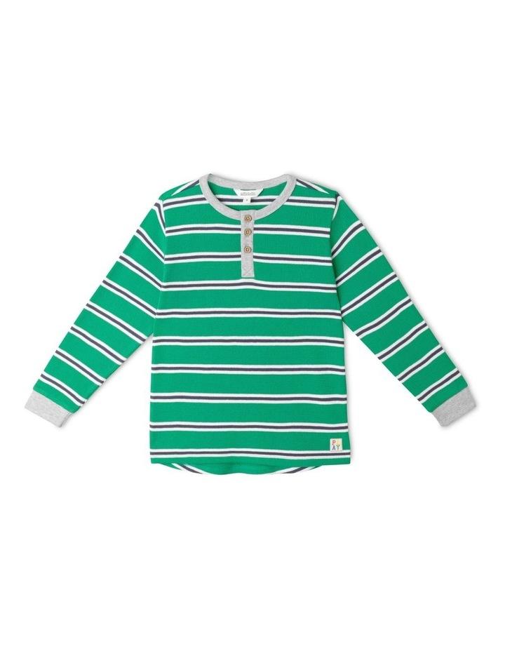 Waffle Henley Stripe T-Shirt image 1
