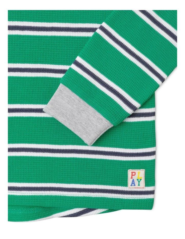 Waffle Henley Stripe T-Shirt image 3