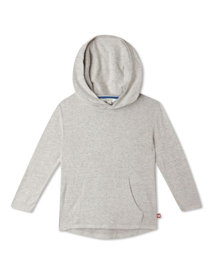 Knit Look Hooded T-Shirt image 1