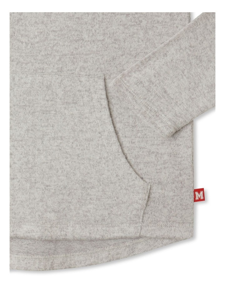 Knit Look Hooded T-Shirt image 3