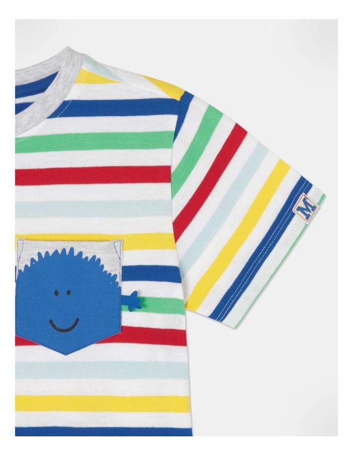 Stripe T-Shirt With Pocket image 3