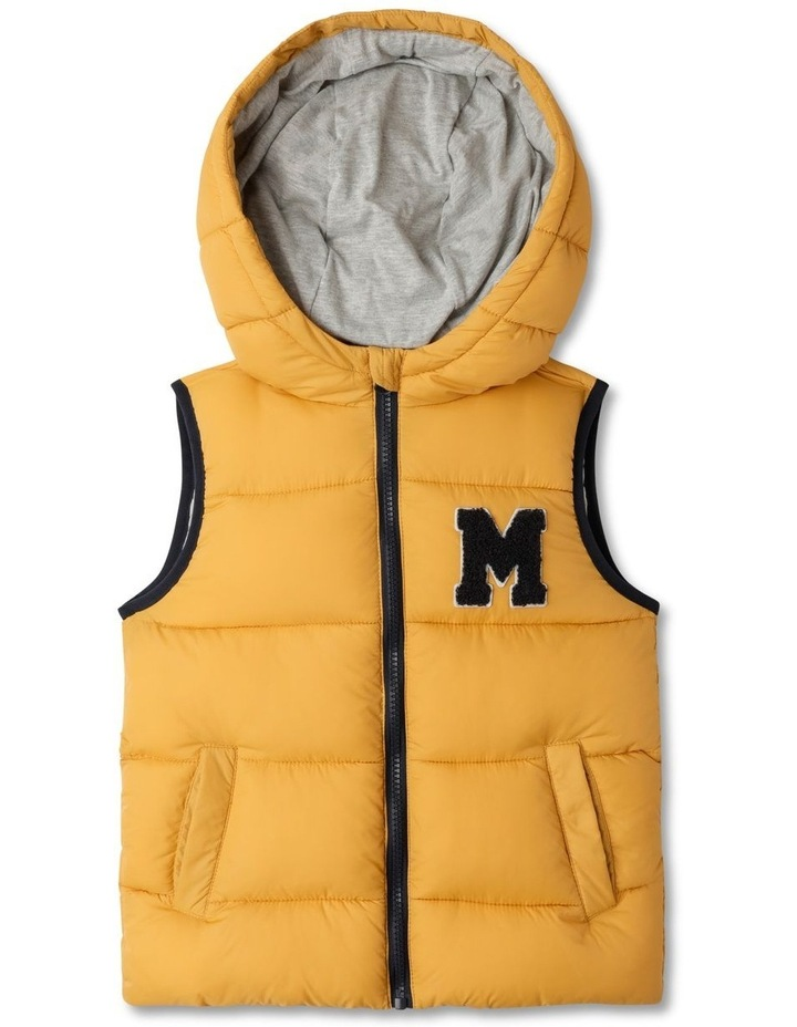 Puffer Vest with Hood image 1