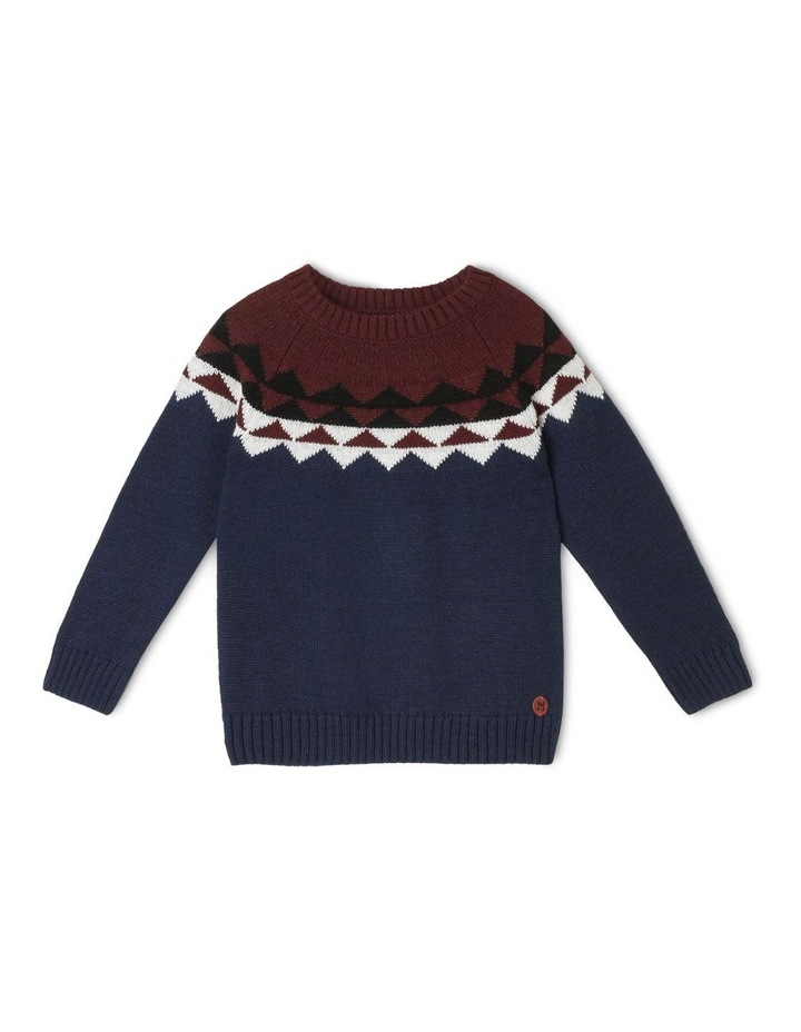Nordic Crew Neck Knitted Jumper image 1