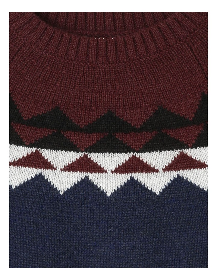 Nordic Crew Neck Knitted Jumper image 2