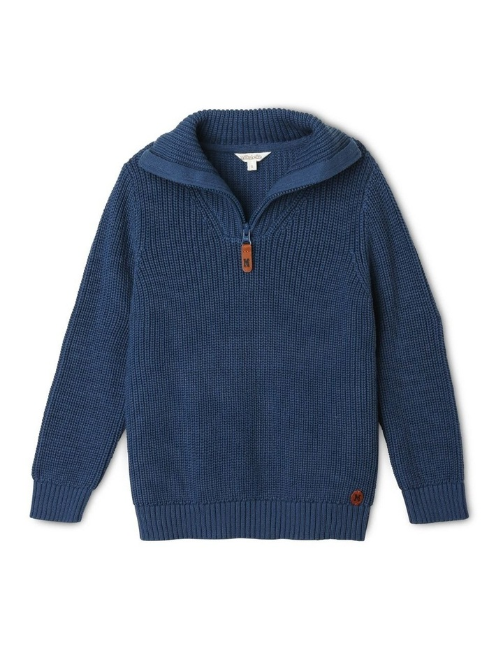 Quarter-Zip Rib-Knit Jumper image 1