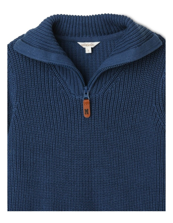 Quarter-Zip Rib-Knit Jumper image 2