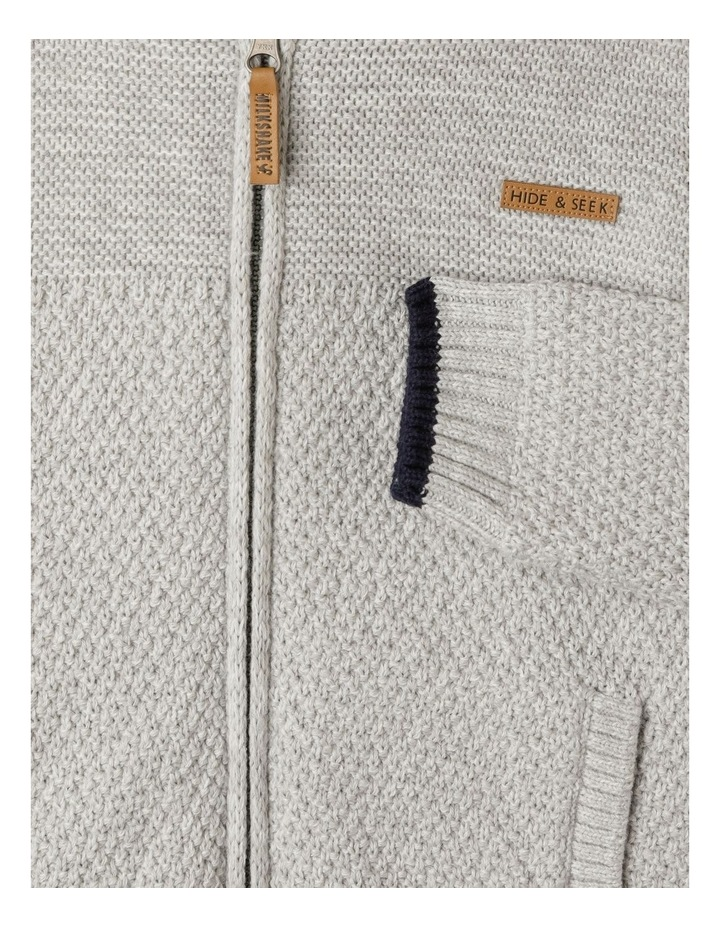 Knitted Sherpa Lined Zip Thru Jumper image 5