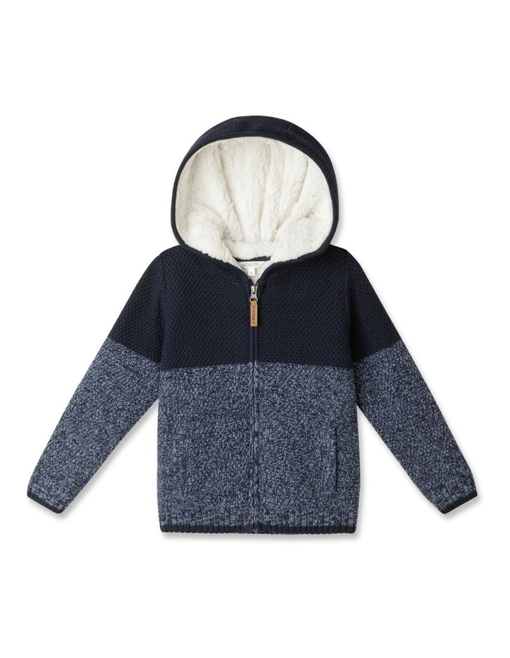 Knitted Sherpa Lined Zip Thru Jumper image 1