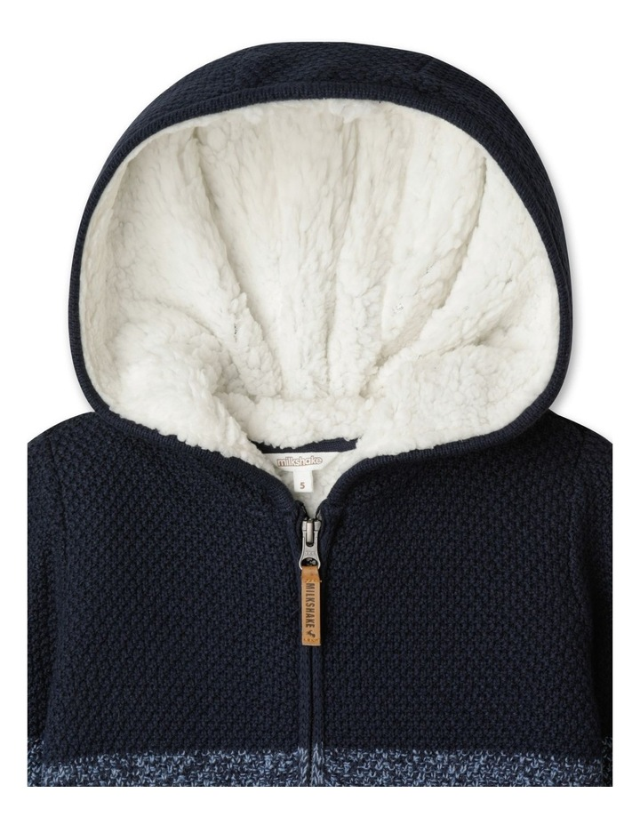 Knitted Sherpa Lined Zip Thru Jumper image 2