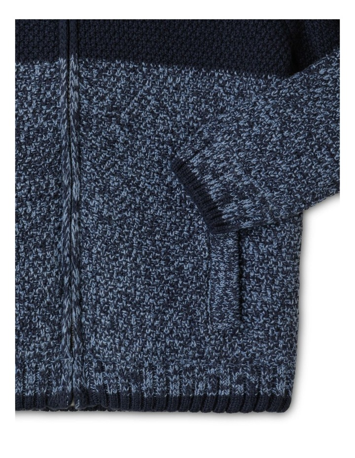 Knitted Sherpa Lined Zip Thru Jumper image 4