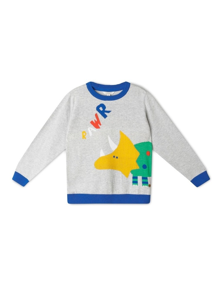 Knitted Crew Neck Jumper image 1