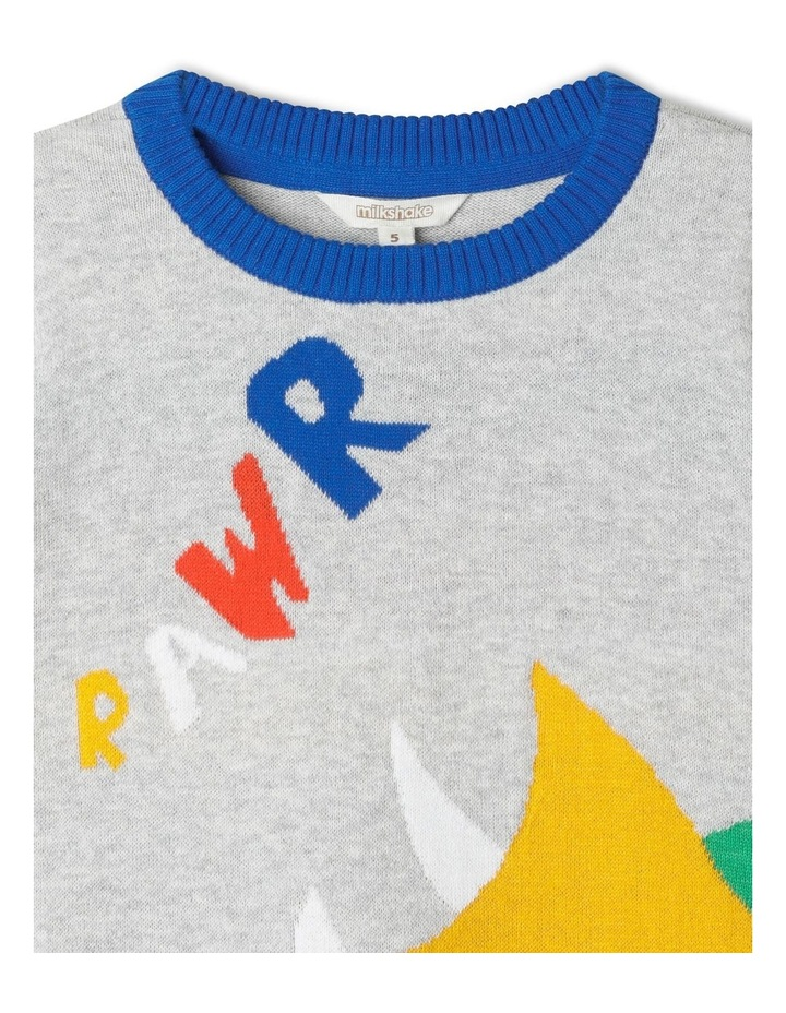 Knitted Crew Neck Jumper image 3