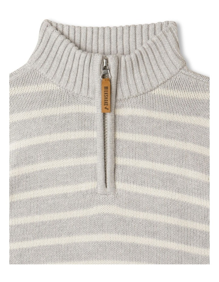 Knitted Half Zip Through Jumper image 2