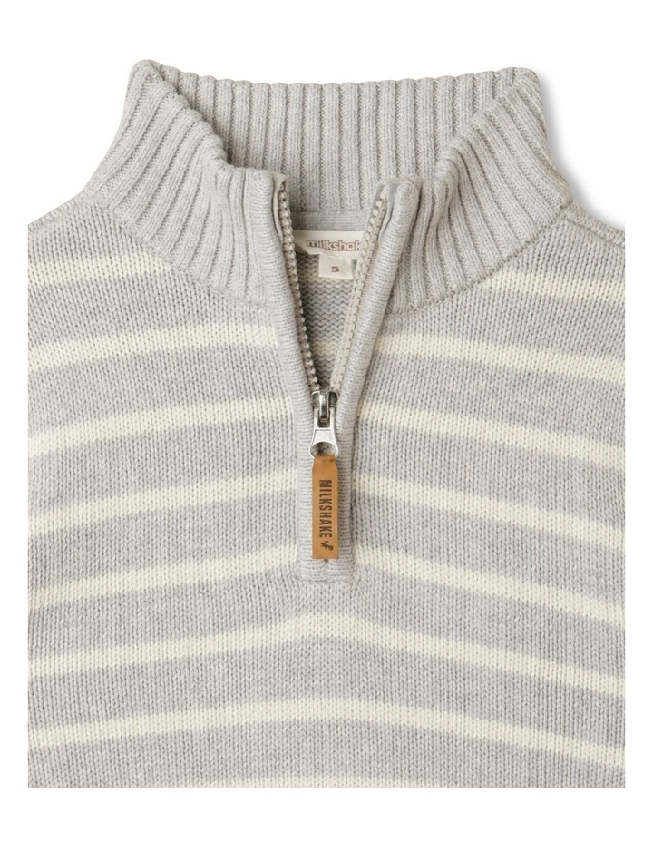 Knitted Half Zip Through Jumper image 3