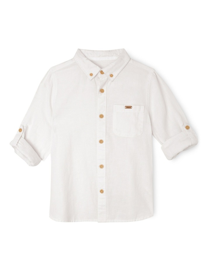 Cotton Linen Rollup Sleeve Shirt image 1