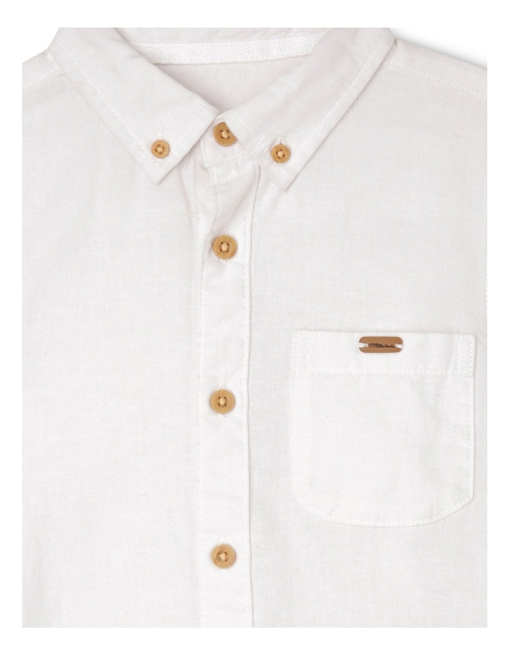 Cotton Linen Rollup Sleeve Shirt image 2