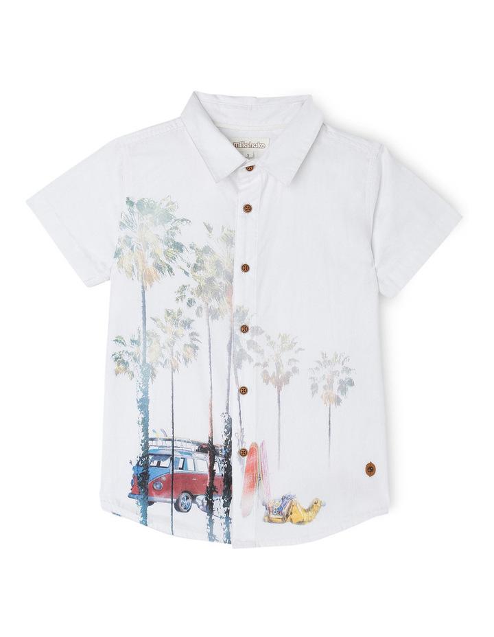 Camel & Palm Print Shirt image 1