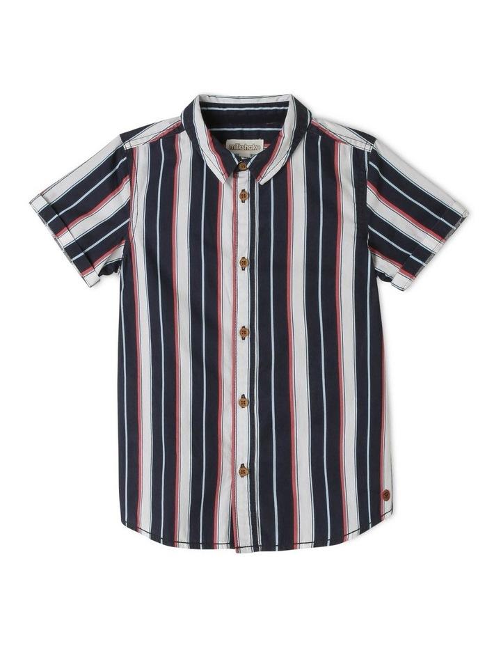 Vertical Stripe Print Tourist Shirt image 1