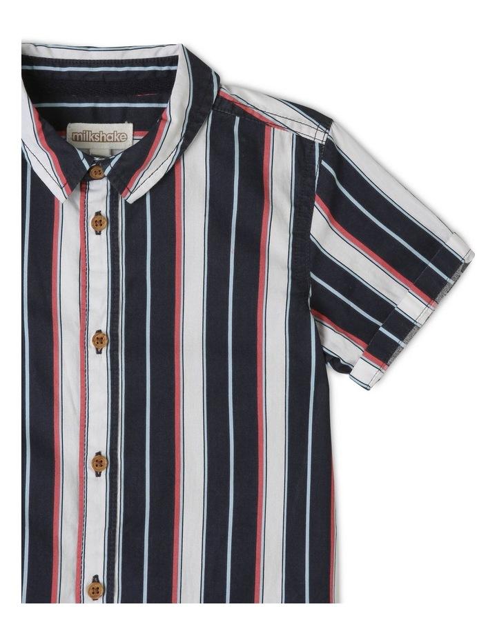 Vertical Stripe Print Tourist Shirt image 2