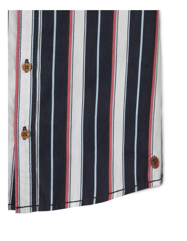 Vertical Stripe Print Tourist Shirt image 3