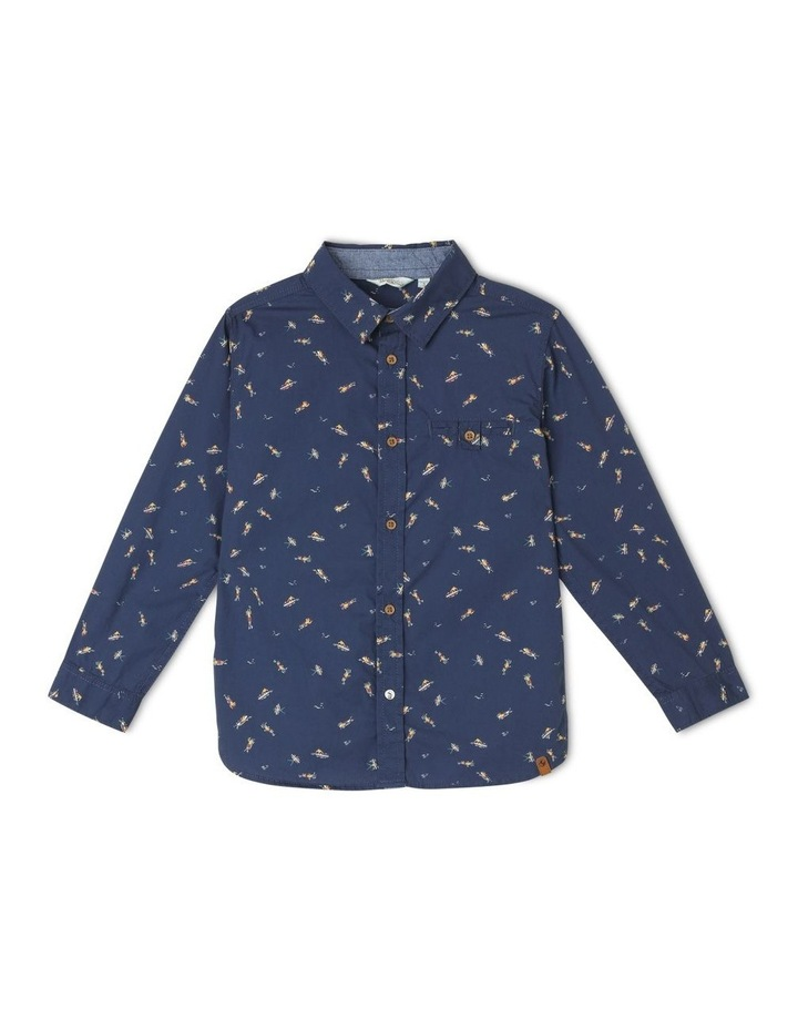 Surfers All Over Print Long Sleeve Shirt image 1