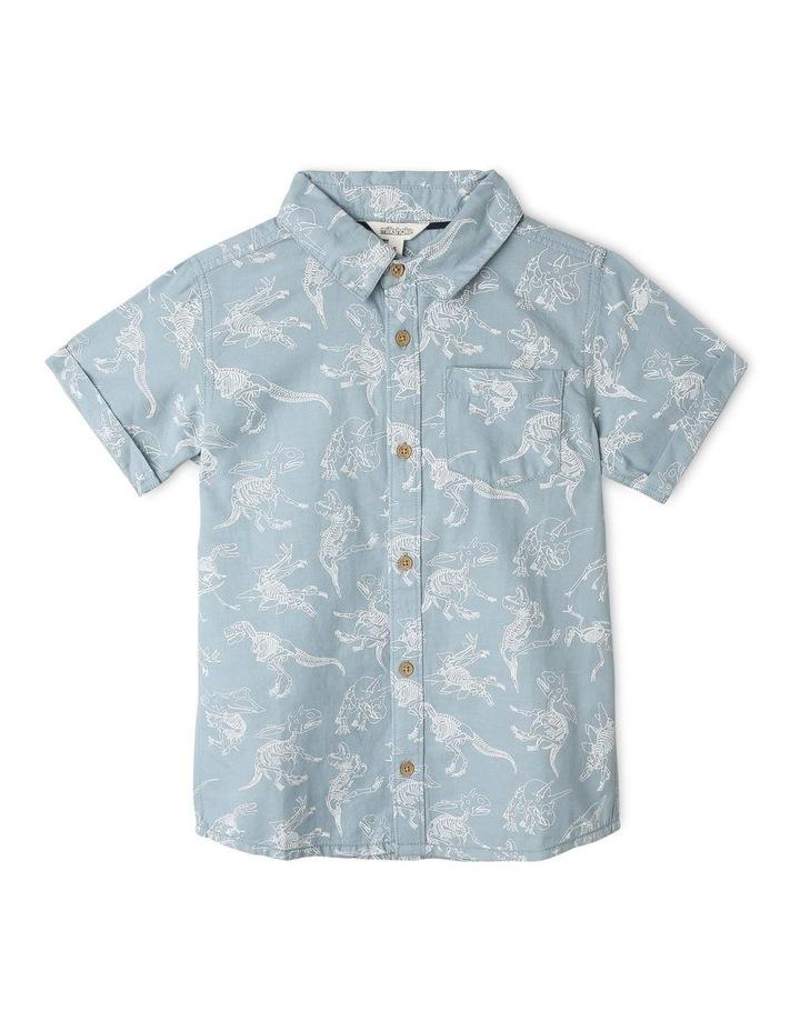Denim Discharge Print Shirt image 1