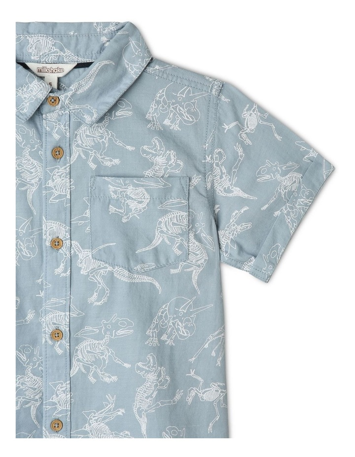 Denim Discharge Print Shirt image 3