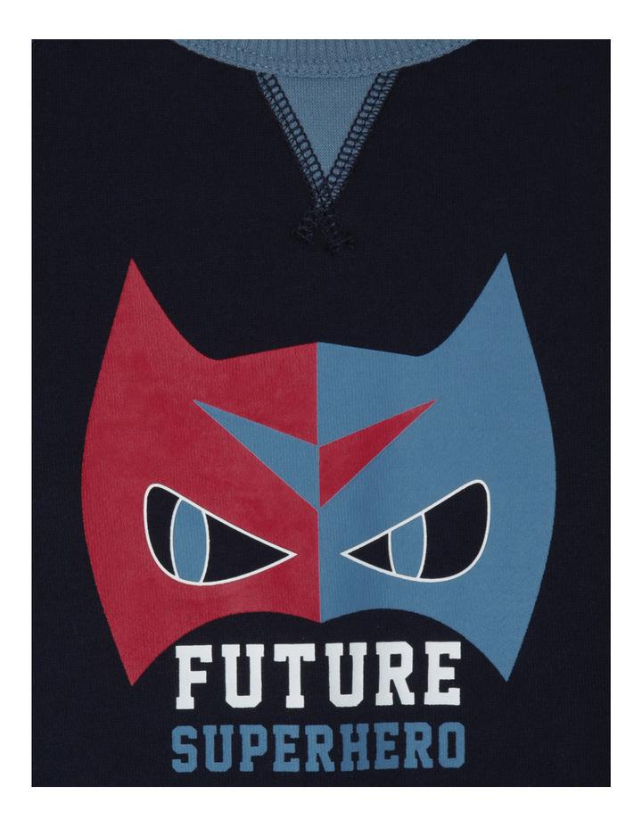 Essentials Future Superhero Raglan Sweat Top image 2