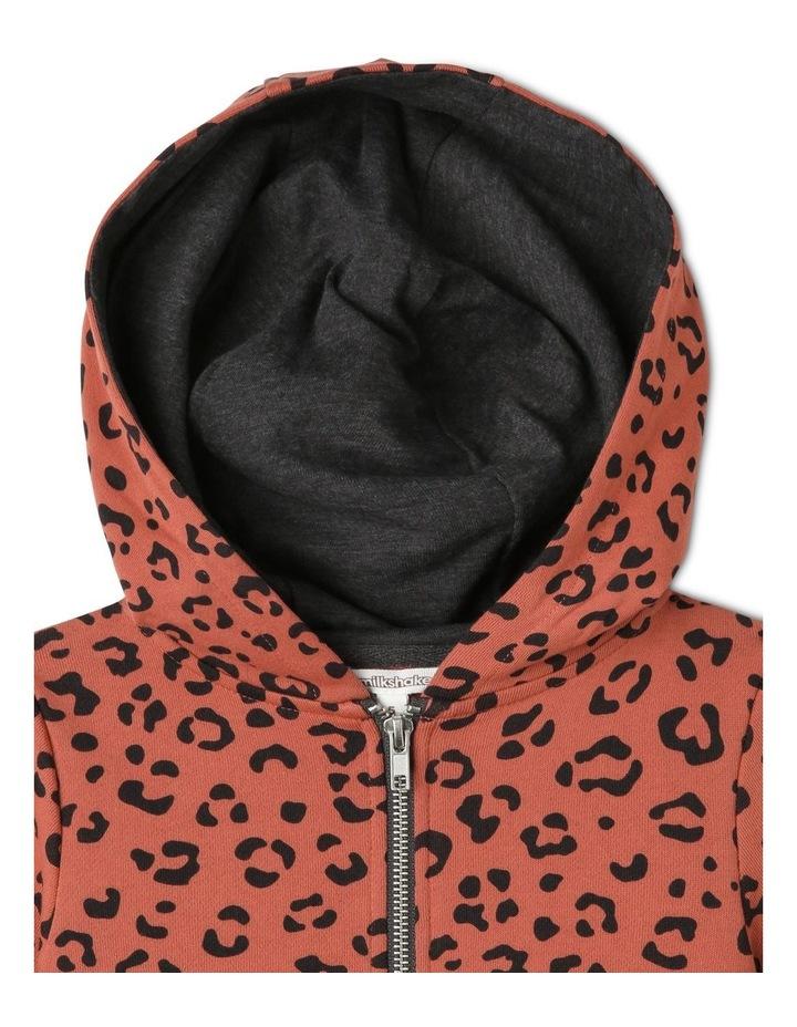 Animal Print Zip-Up Hoodie image 2