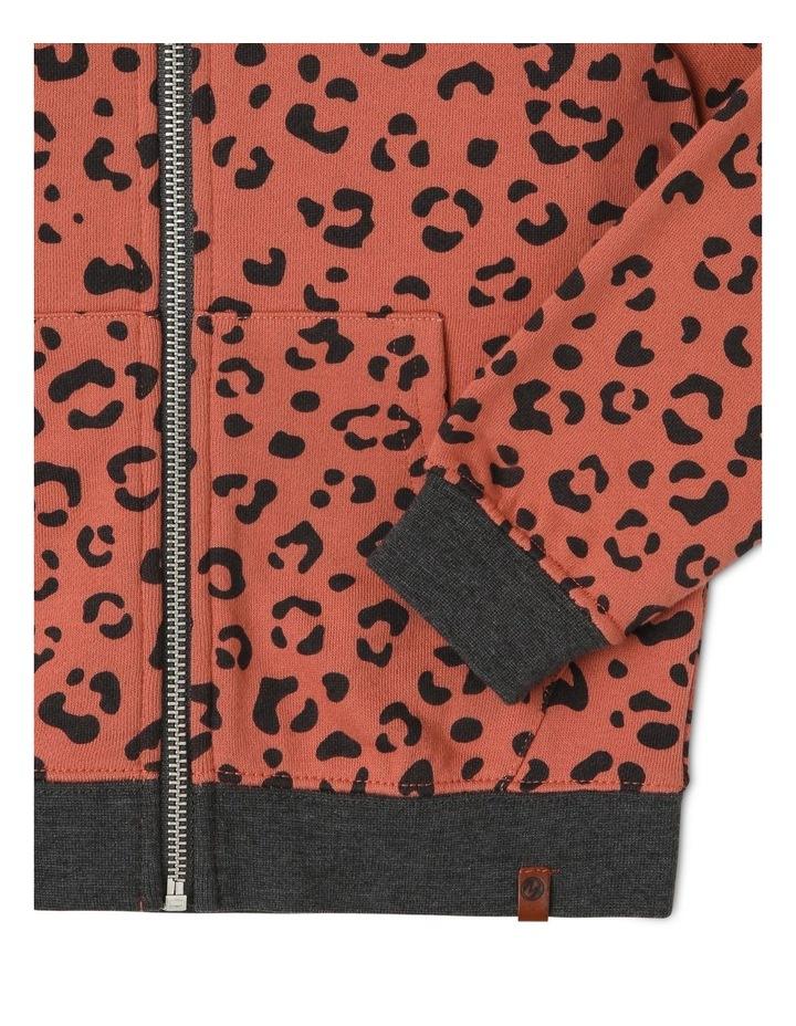 Animal Print Zip-Up Hoodie image 3