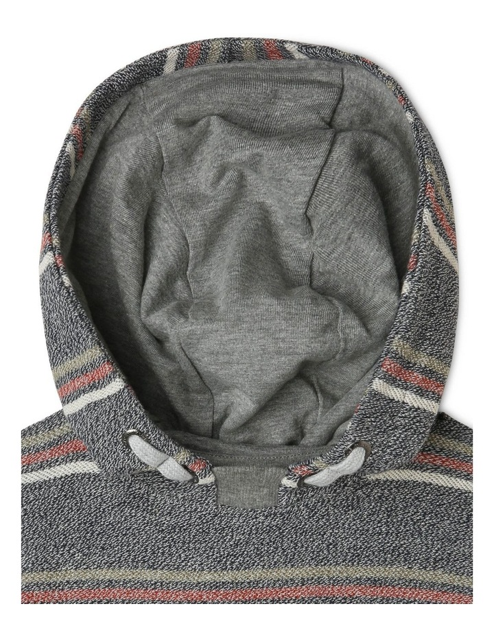 Hooded Stripe Sweat-Top with Reverse Fleece image 2