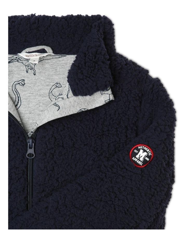 Zip Fleece Sweat Top image 2