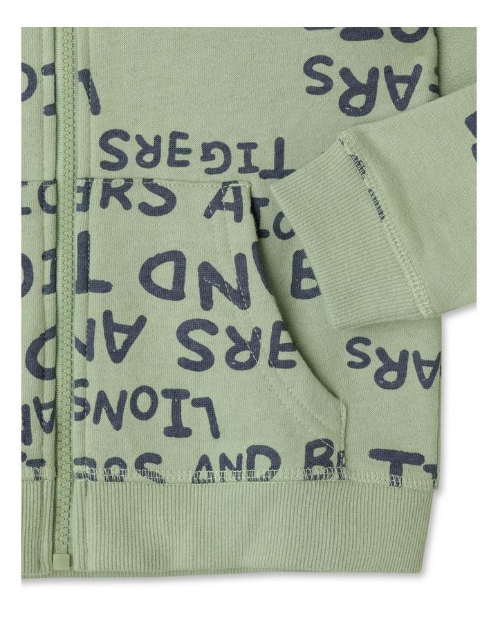 Zip Thru Fleece Sweat Top image 4