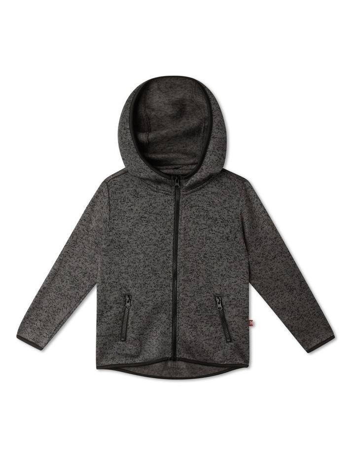 Knitted Fleece Zip Thru Sweat Top image 1