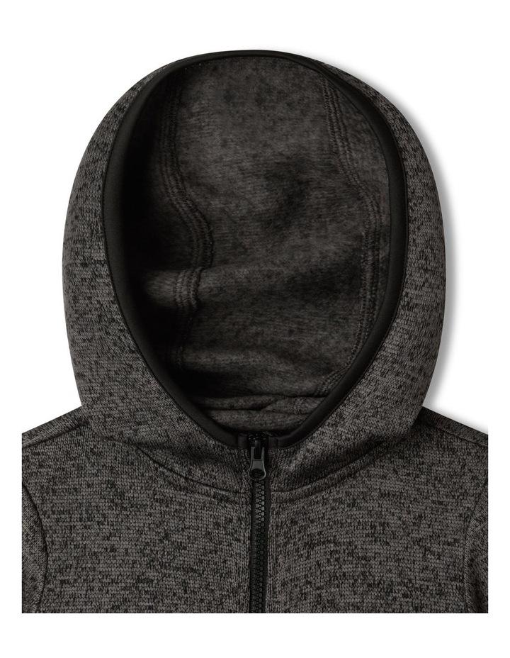 Knitted Fleece Zip Thru Sweat Top image 2