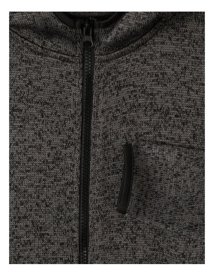 Knitted Fleece Zip Thru Sweat Top image 4