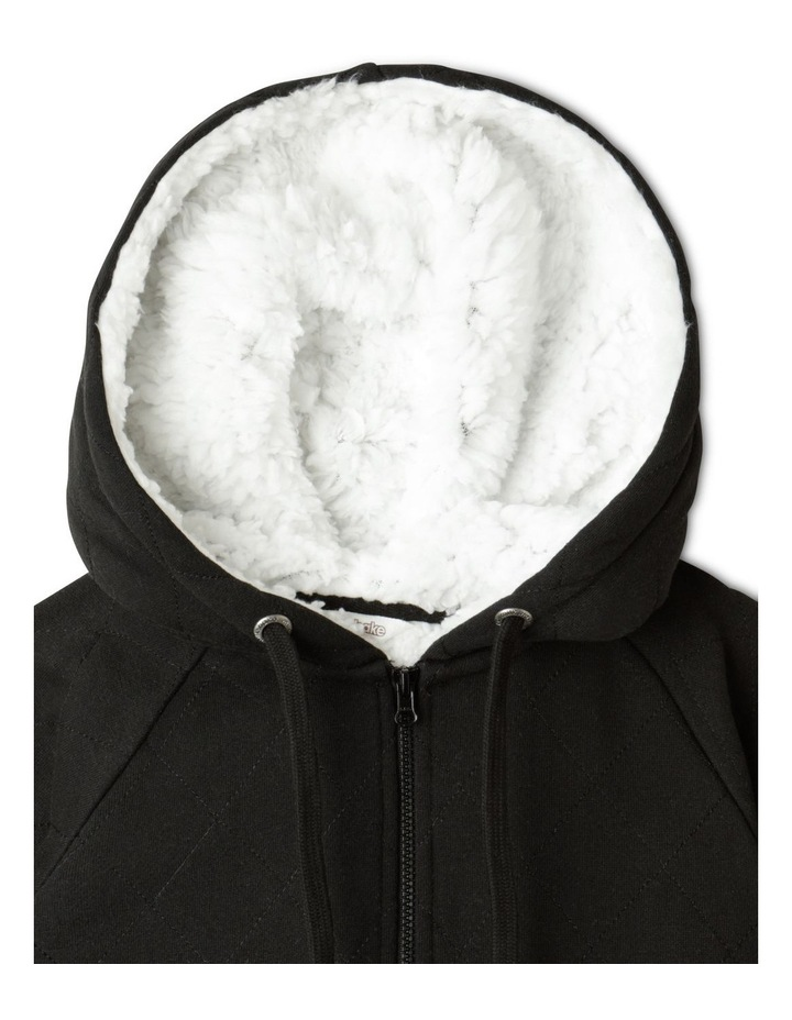 Quilted Sherpa Lined Zip Thru Sweat Top image 2