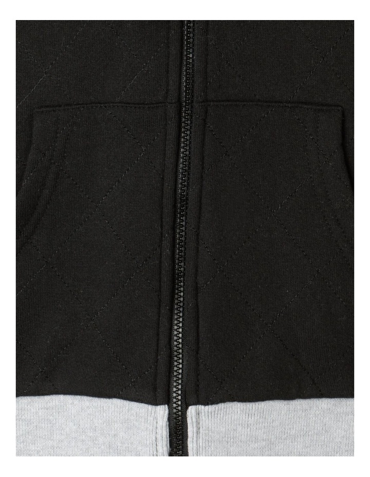 Quilted Sherpa Lined Zip Thru Sweat Top image 4