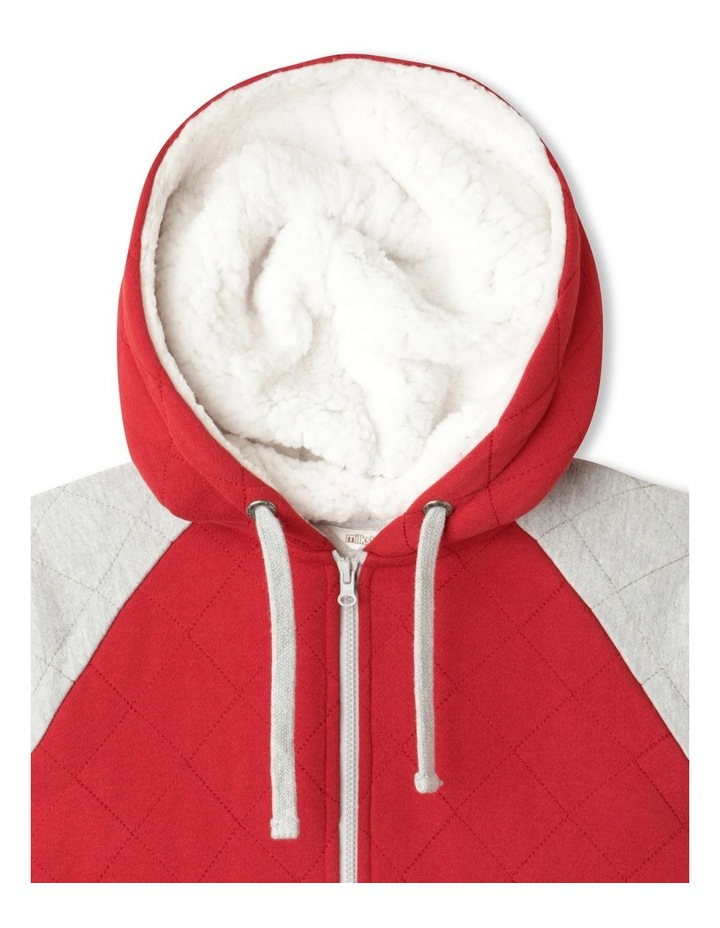 Quilted Zip-Thru Sherpa Sweat Top image 2