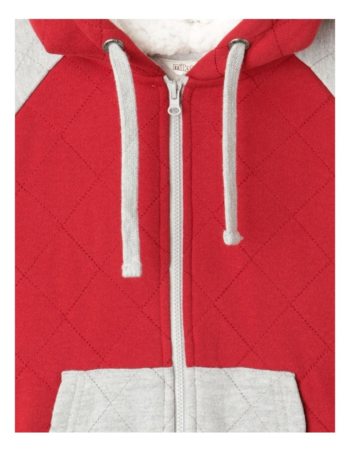 Quilted Zip-Thru Sherpa Sweat Top image 3
